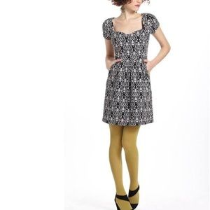 Anthropologie size M Deletta Caledonia Dress Gray